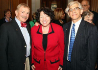 Judge Chester Harhut, Supreme Court Justice Sonia Sotomayor and Sam Milkes